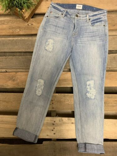 Hudson Leigh Boyfriend Jeans Distressed Ripped Sz
