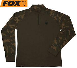 Fox-Camo-Dark-Khaki-Edition-Long-Sleeve-T-Shirt-Shirt-zum-Karpfenangeln-Hemd