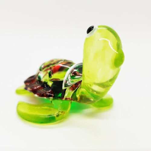 Turtle Blown Glass Hand Blowing gift Art Figurine Reptile  Collectibles Decor