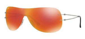 Brand New Ray-Ban RB8057 159 6Q Grey Orange Mirror Sunglasses - 49mm ... 39f86648b90