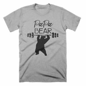 Papa Bear Shirt Fathers Day New Dad Husband Gift Tee Tshirt Short-Sleeve Unisex T-Shirt