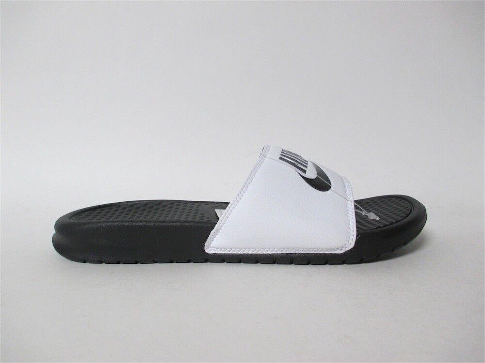 864e932151f3e Nike Benassi JDI Slide Sandal White Black Sz 13 13 13 343880-100 3833af