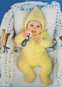 Babys All-in-One Romper Suit Knitting Pattern (BB01) eBay