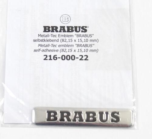 1x Seitenemblem Emblem Sticker Decal Seitenbeschriftung Brabus 82,15 x15 10