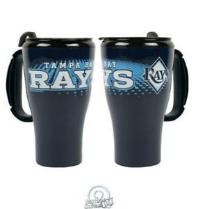 MLB-Baseball-Tampa-Bay-Devil-Rays-16-Oz-Roadster-Plastic-Tumbler-Coffee-Mug-Cup
