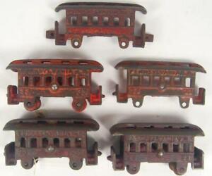Jones & Bixler Ideal Dent antique cast iron train 33 cars