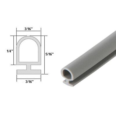 Grey Vinyl Bulb Seal Weatherstrip 10FT Long