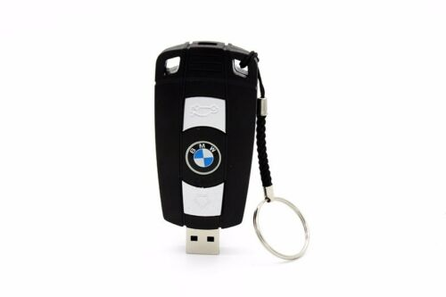 Black Cool Pen Drive Creative BMW Car Key USB Flash Drive up to 64GB Stick Gift