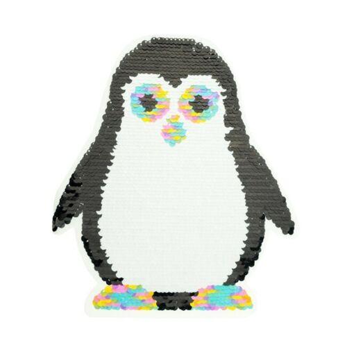 Lentejuelas inflexión aplicación pingüino blanco-multicolor//blanco-Pink