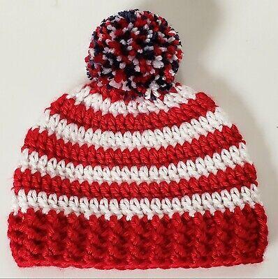 NEW Ralph Lauren Polo Beanie Hat Cap Red Black Plaid Girls Todders 3-6 Months