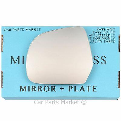 plate For VW Jetta 2011-2017 Left Passenger side Flat wing door mirror glass