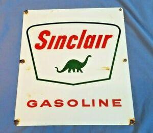 SINCLAIR-GASOLINE-PORCELAIN-PUMP-VINTAGE-STYLE-SERVICE-STATION-DINOSAUR-SIGN