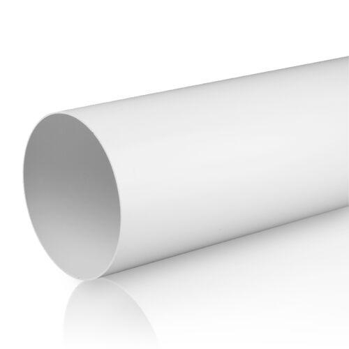 Lüftungsrohr Rundrohr Rundkanal Ø 100 125 150 mm Abluft-Rohr 0,5 m 1,0 m 1,5 m