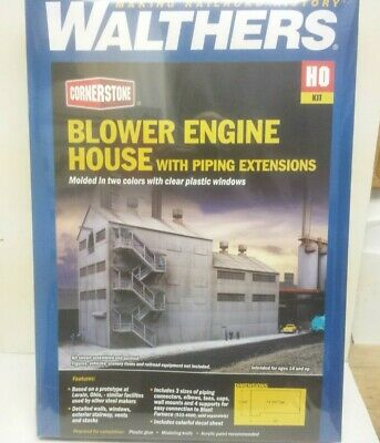 Blower Engine House with Piping extensions Walthers 933-4602 HO Scale Kit