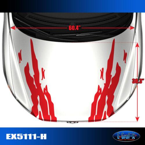 5111-H Hood Splash Body Vinyl Graphics Decals CAR TRUCK High Quality EgraF-X