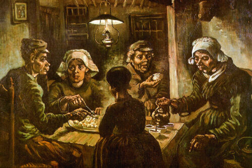 Vincent van Gogh The Potato Eaters Poster 18x12 inch