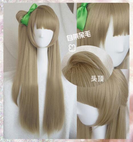Free Cap Love Live Minami Kotori Lenin Long Stright Brown Cosplay Wig