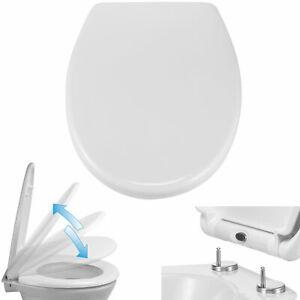 WC-Sitz-Duroplast-Absenkautomatik-Toiletten-Deckel-Klo-Brille-Schnellverschluss