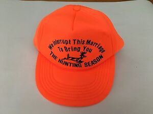 Vtg-We-Interrupt-this-Marriage-to-Bring-Hunting-Season-Trucker-Cap-Snapback-Hat