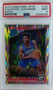 2018 Optic Rated Rookie Shock Prizm Shai Gilgeous-Alexander #162, Graded PSA 9