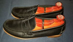 Sebago Mens Wicklow Penny Loafers 770101 Black Leather ...