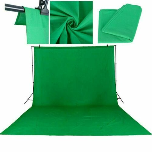 3x3M Chromakey Green Screen Musselin Fotografie Fotostudio Hintergründe Grün