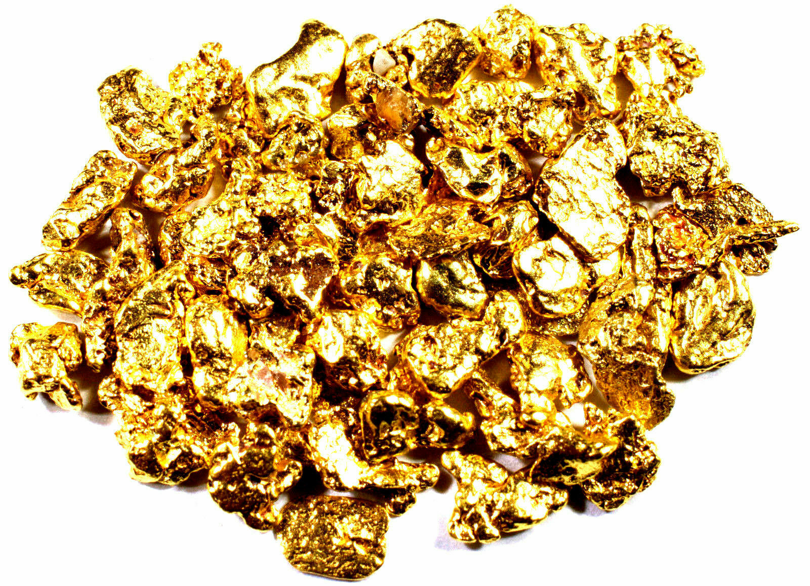 0.500 GRAMS ALASKAN YUKON BC NATURAL PURE GOLD NUGGETS #18 MESH FREE SHIPPING
