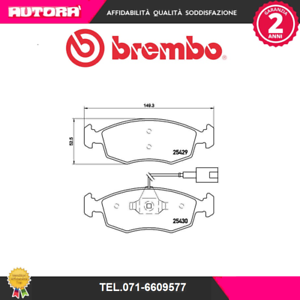 Freno A Disco Brembo P A6 023 Kit Pastiglie Freno