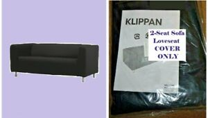 Outstanding Details About Ikea Klippan Granan Black Loveseat New Sofa Cover 2 Seat Washable Canvas Retired Gmtry Best Dining Table And Chair Ideas Images Gmtryco