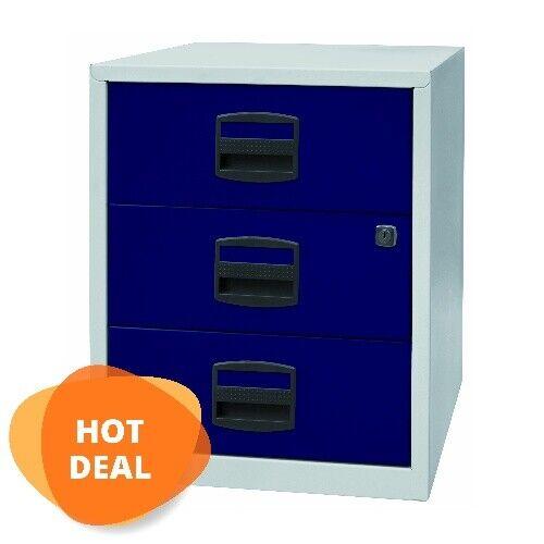Schreibtisch Bürocontainer • Bisley Home Office Rollcontainer • Metall