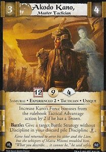 Details about Akodo Kano, Master Tactician (Exp2) L5R CCG Thunderous  Acclaim ThA