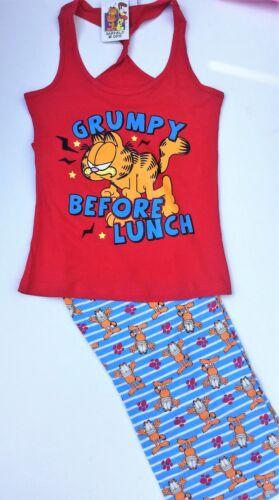 """Ladies UFFICIALE Garfield /""""scontroso prima di pranzo/"""" Pigiama Di Cotone Taglie 8-18 RRP £ 22"""