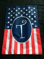 Monogrammed Holiday Small Garden Flag T, Flag, 4th Of July, American Gift