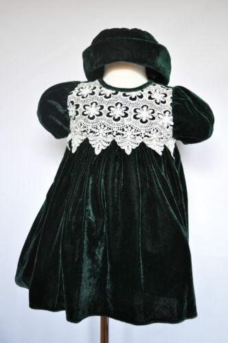 Hunter Green Baby Girl Toddler Holiday Formal Dress Wedding 6M 12M 18M 36M