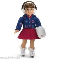 American Girl Molly Skating Outfit + Skates/muff Accessories No Doll Includ