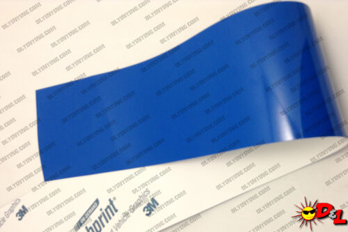 "3M Scotchprint Gloss Intense Blue Wrap Film 24/""x30/"" 5 sq ft."
