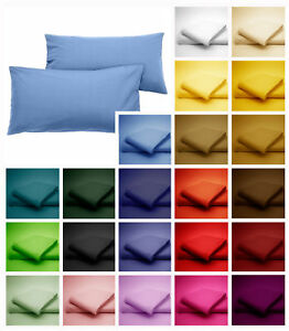 Percale-Poly-Cotton-Pillow-cases-Housewife-Bolster-and-Oxford-Edge
