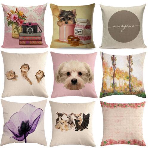 """18/""""x18/"""" Square Printed Pillow Case Waist Throw Cushion Cover Sofa Car Home Decor"""
