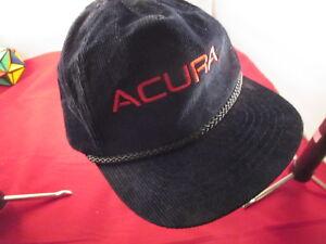 ACURA HAT CAP ZIPBACK VINTAGE RETRO VTG AMAPRO CAR CORDUROY TRUCKER - Acura hat