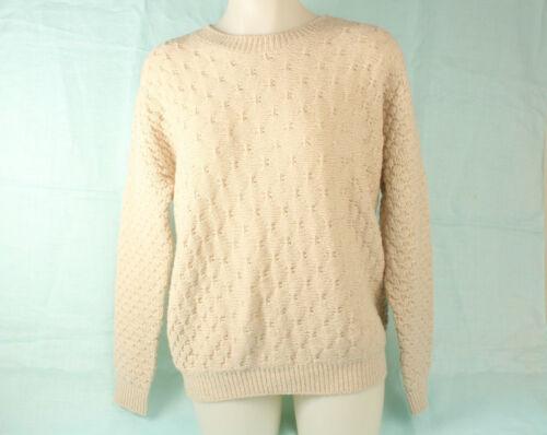 mailles torsadées laine laine en et à Beige Vince Pull n4Fpn