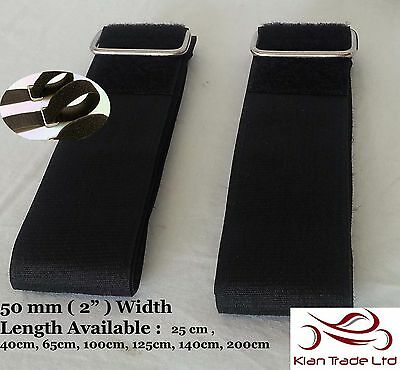 2x VELCRO ADJUSTABLE STRAPS BUCKLE CABLE LUGGAGE TIE DOWN FASTNER 50mm x 40cms