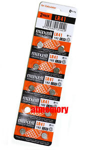 Maxell-LR41-192-AG3-392-1-5v-Alkaline-Button-Coin-Cell-Batteries-10pcs-Genuine