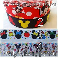 Disney 1.5 Wide Grosgrain Ribbon 8 Yards Listing Choose A Style Or Styles