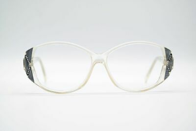 2019 Nuovo Stile Vintage Maggy Rouff 414 1374 54 [] 14 145 Trasparente Ovale Occhiali Eyeglasses Nos-
