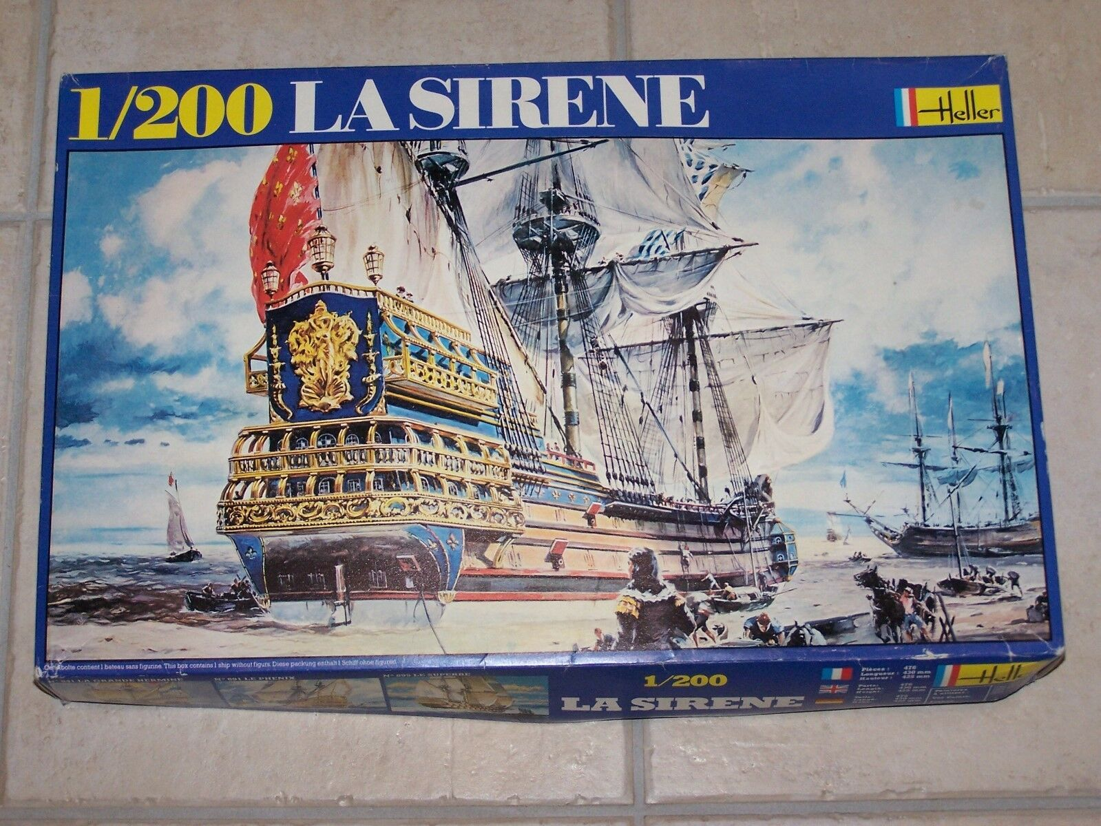 Maquette HELLER  1 200ème LA SIRENE