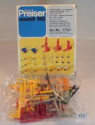 Preiser 1/87 N. 17107 Kit Kit Carrelli Elevatori E Dispositivi Di Trasporto Ovp #474-e Ovp #474 It-it Mostra Il Titolo Originale