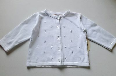 Girls BOUTIQUE COLLECTION white cardigan 6-12-18-24 months NWT sweater dressy