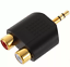 100 pcs Gold plated 3.5mm Male Stereo to 2 RCA Female Y Splitter Audio Adapter