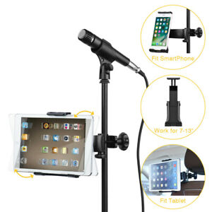 Mic-Stand-Microphone-Holder-Car-Headrest-Mobile-Phone-Tablet-Bracket-Mount