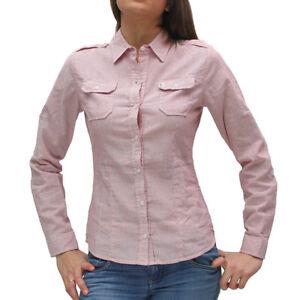 Manica Xxl Donna Lunga Camicia Cotone Xs Bianco R10902c4n1w Rosso Righe Refrigue 3cAj4LRq5